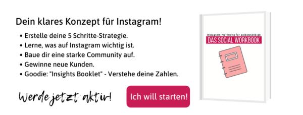 Das Social Workbook Strategie für Instagram Selbstlernkurs