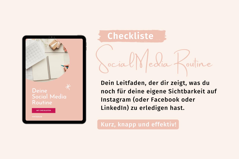 Social Media Routine Checkliste