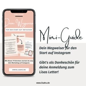 """Mini-Guide """"Dein Wegweiser für den Start auf Instagram"""""""