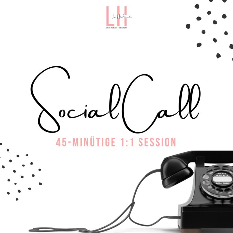 Social Call - Einzelsession für dein Online Marketing