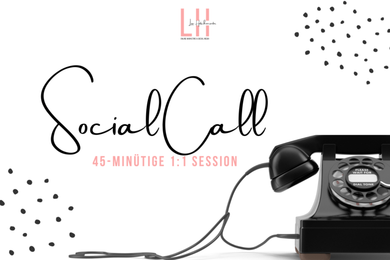 Social Call - 1:1 Session und Beratung