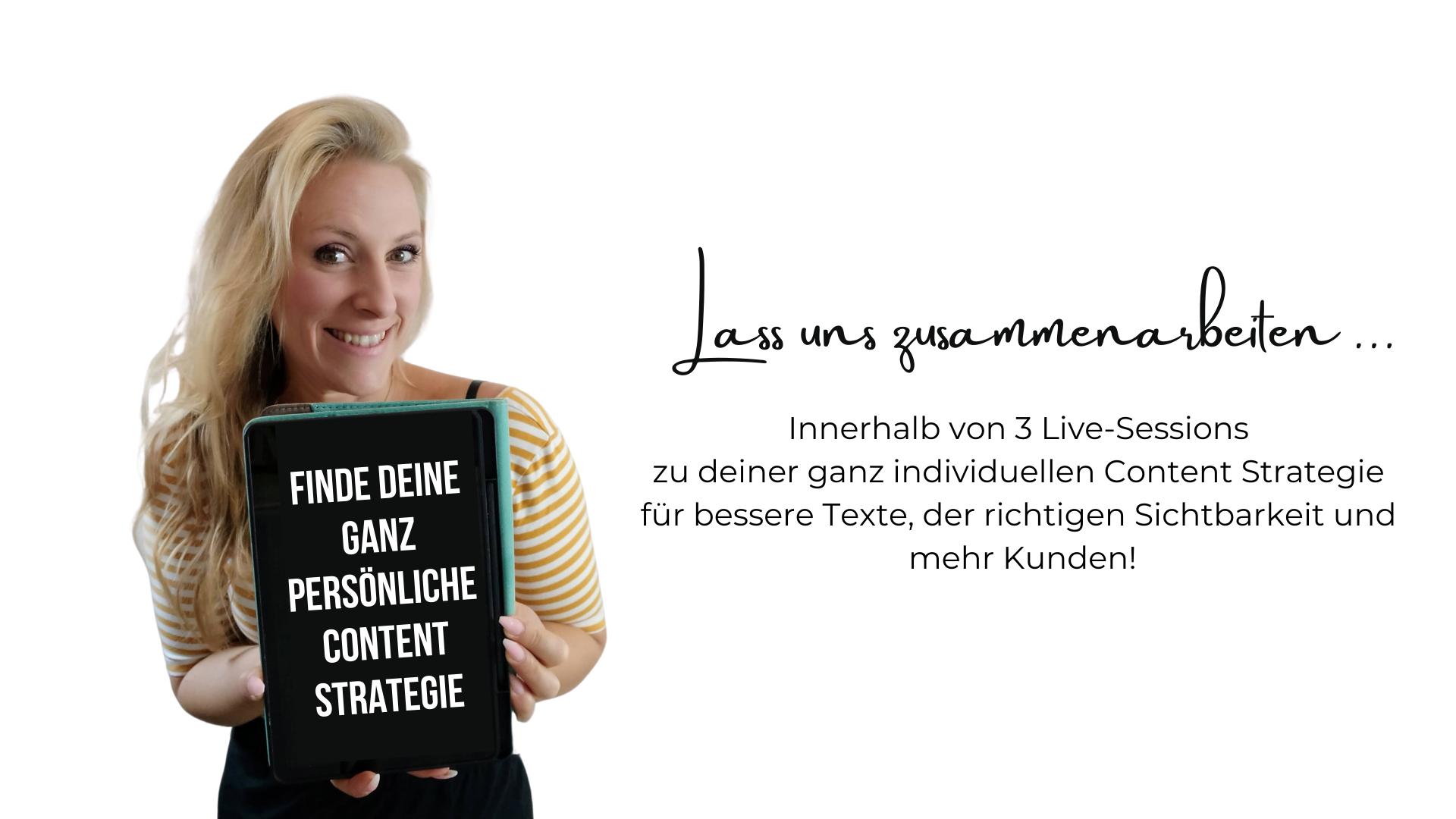 Workshops für Selbstständige Content Strategie und Text