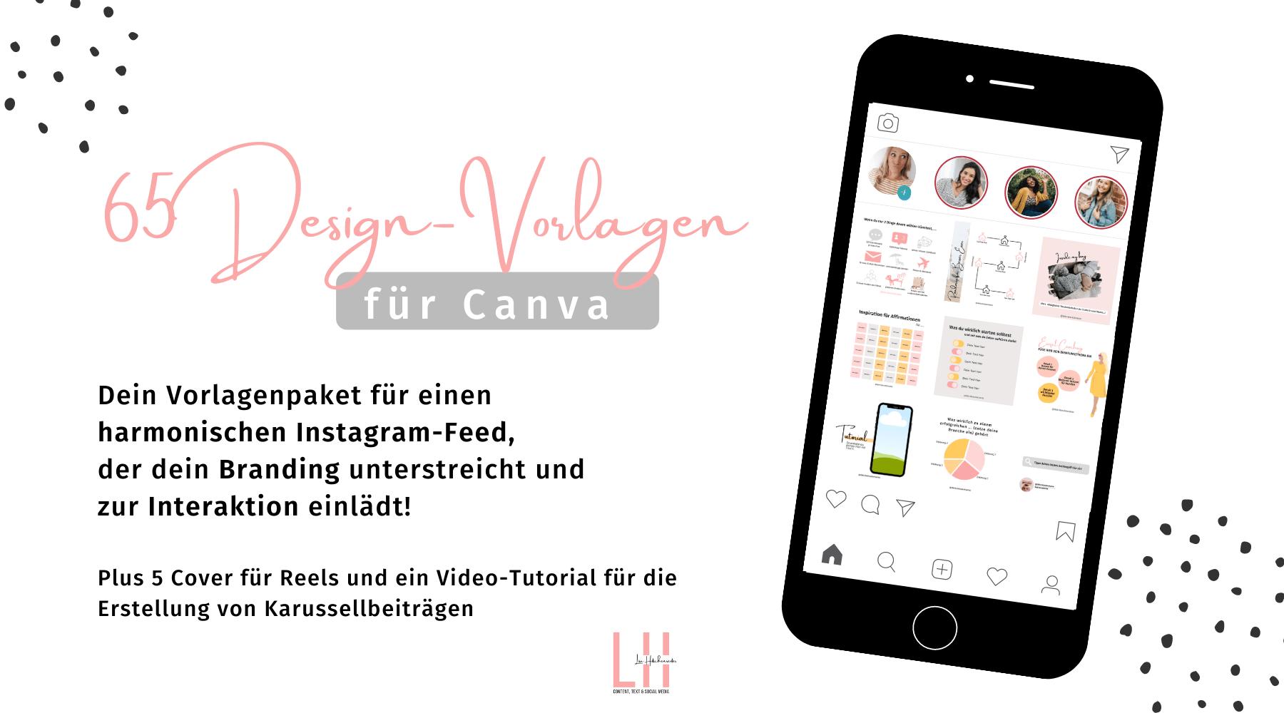 Design-Vorlagen Instagram Templates Vorlagen in Canva für Selbstständige Coaches und Freelancer Cover Titelbild Insta