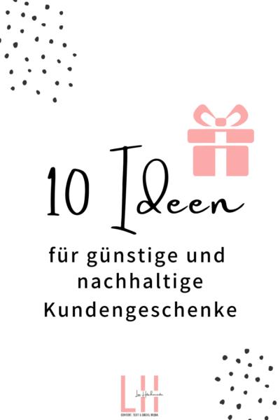 Nachhaltige und günstige Geschenke für Kunden Was als selbstständige den Kunden schenken (2)