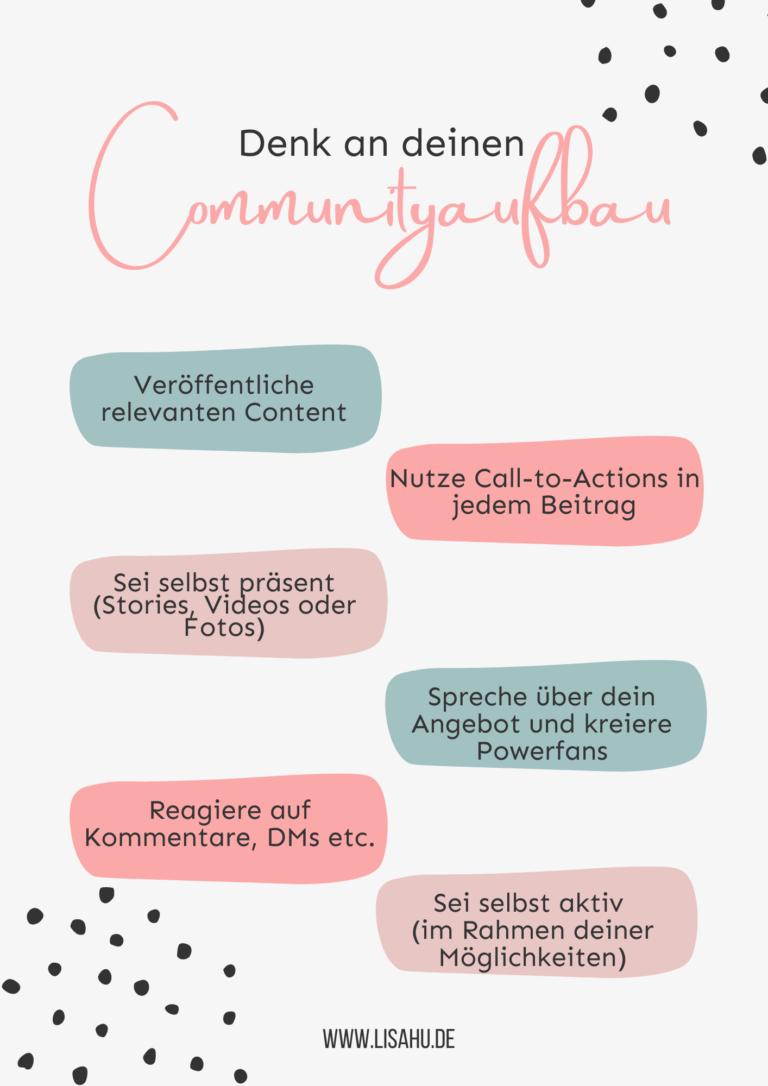 Communityaufbau Checkliste