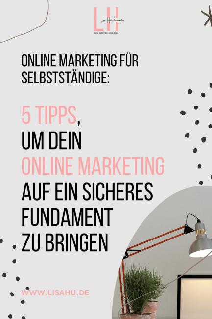 5 Tipps Online Marketing für Selbstständige